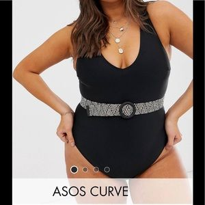 Asos one piece - worn once- belt included